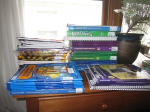 More free books from the district. That should be enough math stuff, right?
