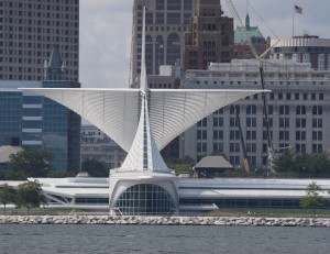 Preferred vantage point. Milwaukee Art Museum from the water