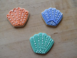 She made these beautiful shell cookies, too!