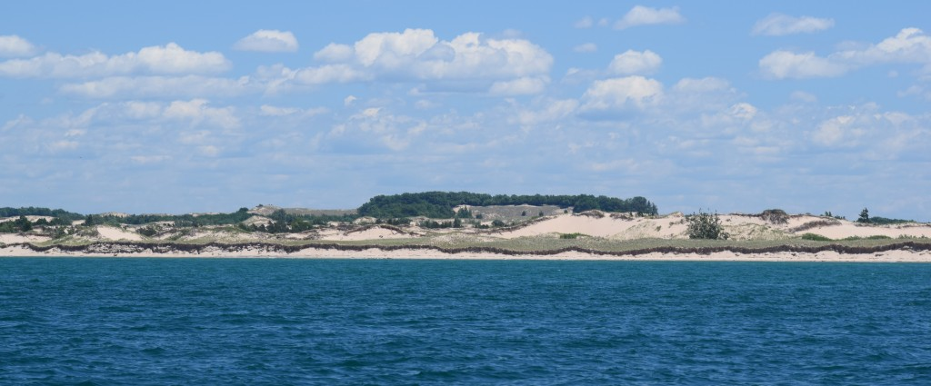 Sand dunes, Michigan shore