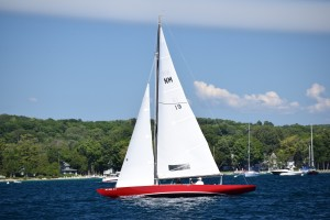 We had to pick our way through a racecourse at the harbor entrance filled with these beautiful boats--Northern Michigans, conceived in Harbor Springs for one-design racing