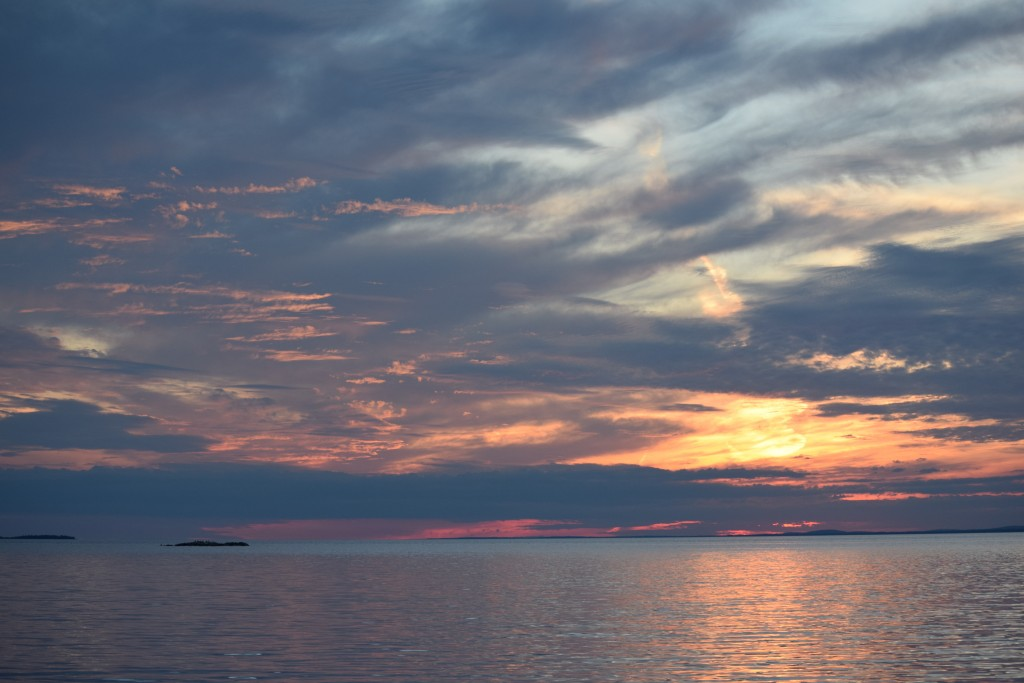 How many sunsets can I put in the blog before you stop reading? East Stuart Island, ON