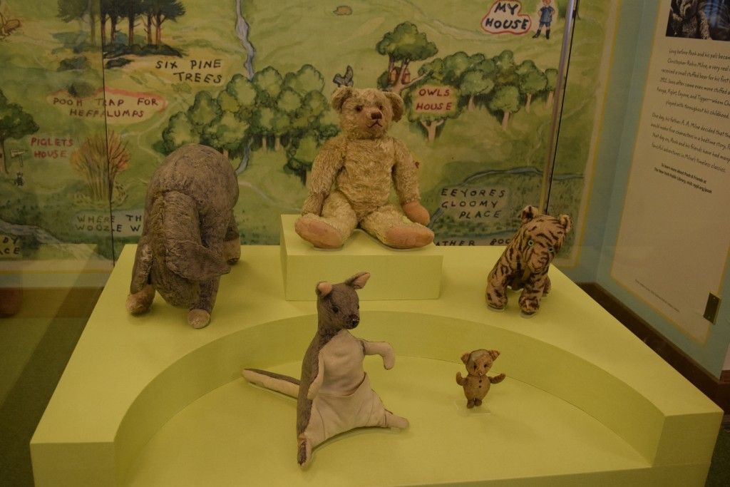 We did, however, get to see Christopher Robin's original stuffed animals from the Winnie the Pooh books.