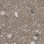 Terrazzo-style concrete with shells; waterfront, Beaufort, SC
