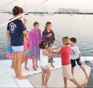 Kid party on the catamaran!