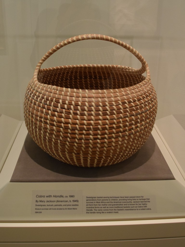 Sweetgrass basket at the Geddes
