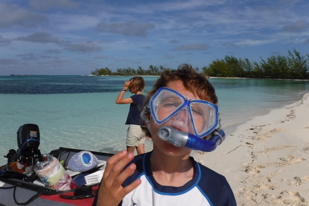 T learns to work the snorkel in the Berry's