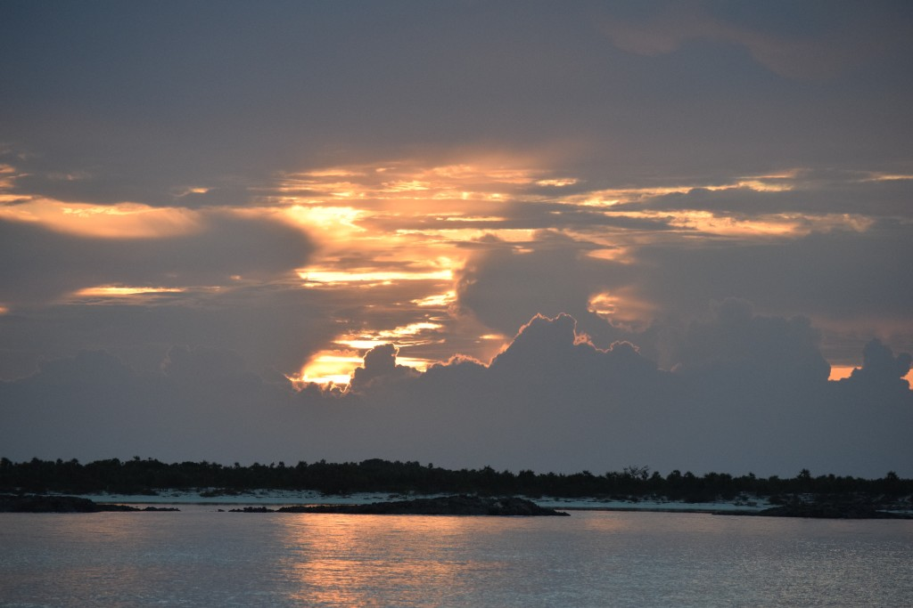 Sunrises: free. Also, sunsets. Shroud Cay, Bahamas