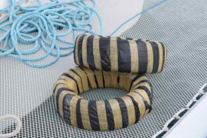 Rental tires for fenders, and rental lines to keep the boat centered