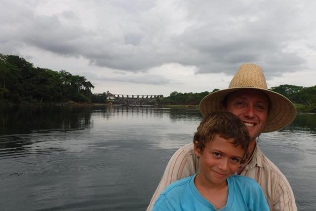 Up by the dam that forms Lake Gatun