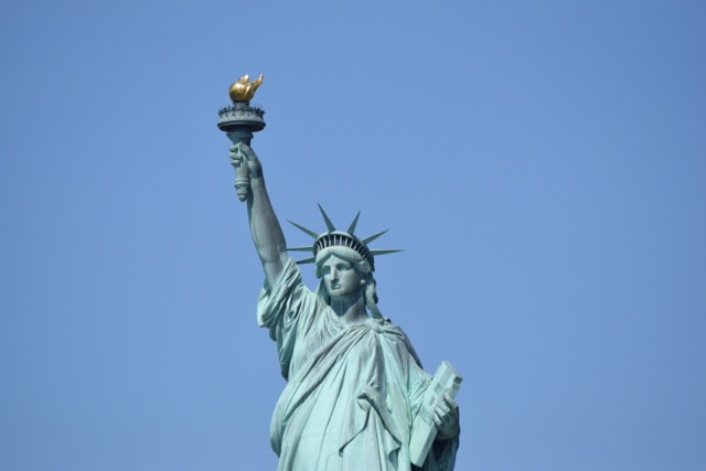 Just sailing on past the Statue of Liberty....
