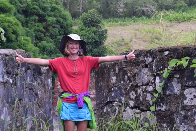 Hands-on homeschooling; old Spanish fort in Portobelo, Panama
