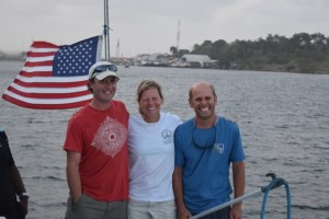 Better choices with Sapphire: Panama Canal transit on their boat. Americans, coming through!