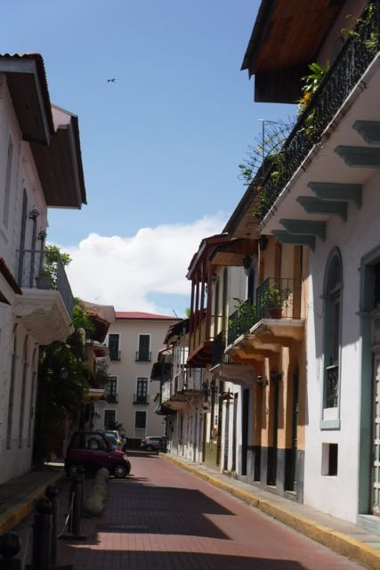 The restored streets of Old Panama City...