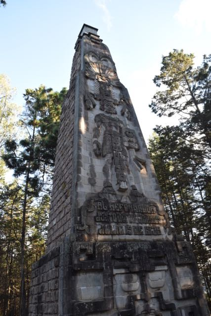 Monument to Tecun Uman, a Mayan leader killed in Xela at the time of Spanish conquest and reportedly buried here. Many myths surround his death, and some claim he appears on the mountain on misty days.