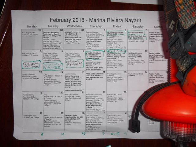 The packed calendar!