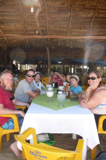 Hanging out in a palapa in Yelapa