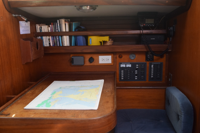 Starboard side nav station