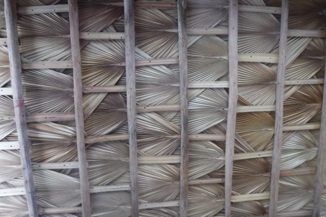 Underside of the thatched roof