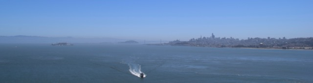 We didn't spend any real time in San Fransisco, but we had lovely views from the Golden Gate!