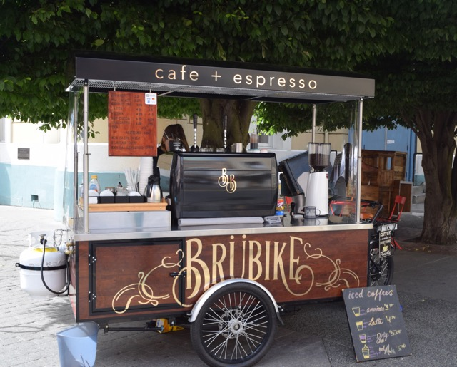 Another sign we are not in Mexico--bike-powered espresso cart