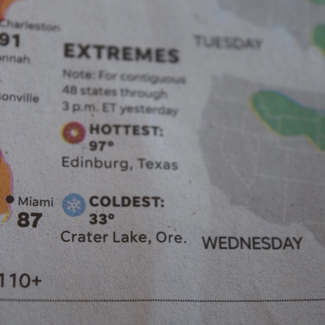 We found this snippet of info in the USA Today in a Portland coffee shop. Yep, that's right where we were...